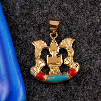 18k Egyptian gold healing sign pendant (jewelry gifts)