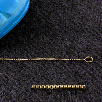 18K gold Box chain necklace.(Chains Collection)