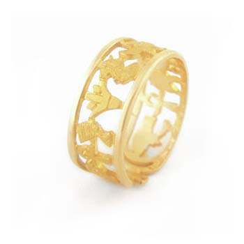 18k gold royal lotus and Cleopatra ring (Rings Collection)