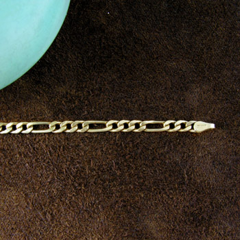 Gold Figaro link chain (Chains Collection)