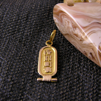 Heavy special Egyptian gold cartouche (personalized gifts)