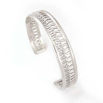 Infinity silver Ankh key Bangle