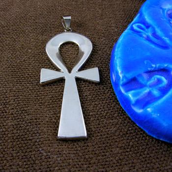 Plain silver Ankh key pendant (jewelry gifts)