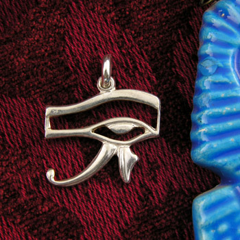 silver Eye of Horus pendant (jewelry gifts)