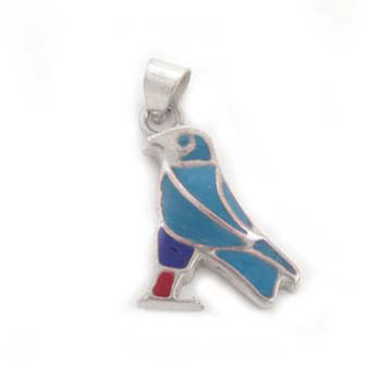 Silver Horus pendant with colorful filling (jewelry gifts)
