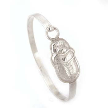 Silver Scarab bracelet