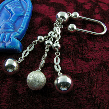 Silver three spheres key holder (jewelry gifts)