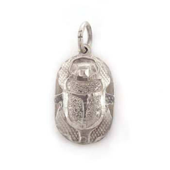 Solid Silver Egyptian scarab (jewelry gifts)