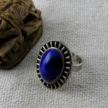 sterling silver ring with blue lapis stone (Rings Collection)