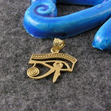 18K Gold Eye of Horus pendant (jewelry gifts)